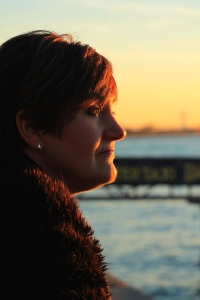 My mum looking out to Liberty Island. This moment I will never forget, looking out to sea washed with the golden glow of the sun, surrounded by my wonderful family.