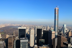 The perfect day to be at the top of the Rock. Overlooking Central Park.