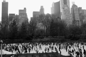 Ice skating in Central Park.