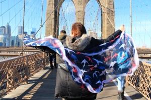 Mum on Brooklyn Bridge