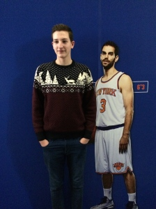Christmas Day was spent in MSG, where we discovered that my 16 year old brother is actually taller than one of the players.