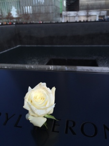 On each victims birthday a single white rose is place in their name. Those that were lost circle the memorial falls, which really makes you realise how tragic 9/11 was.