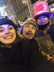New pals I met on New Years Eve, we bonded over mutual love for pepperoni pizza